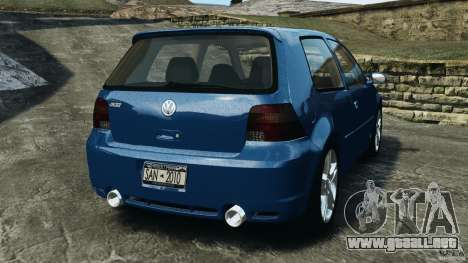 Volkswagen Golf 4 R32 2001 v1.0 para GTA 4 Vista posterior izquierda