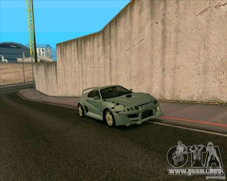 Toyota Supra from MW para GTA San Andreas vista posterior izquierda