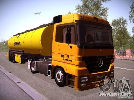 Trailer de Mercedes-Benz Actros Rosneft para la visión correcta GTA San Andreas