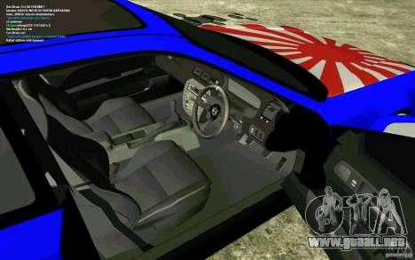 Honda Prelude para GTA San Andreas vista hacia atrás