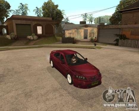 Mazda 6 Sport para GTA San Andreas vista posterior izquierda