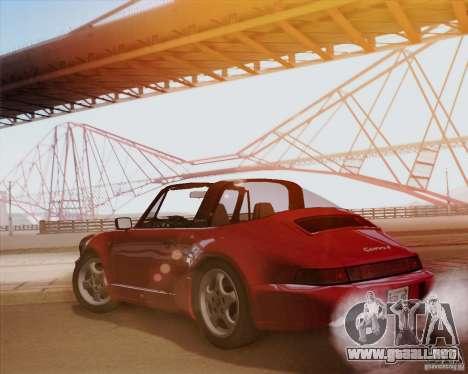 Porsche 911 Carrera 4 Targa (964) 1989 para GTA San Andreas vista hacia atrás