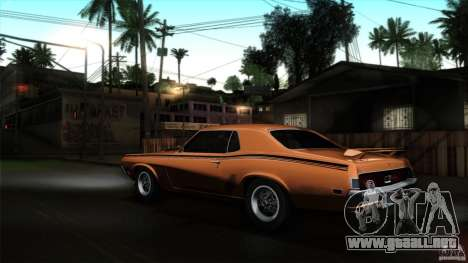 Mercury Cougar Eliminator 1970 para GTA San Andreas left