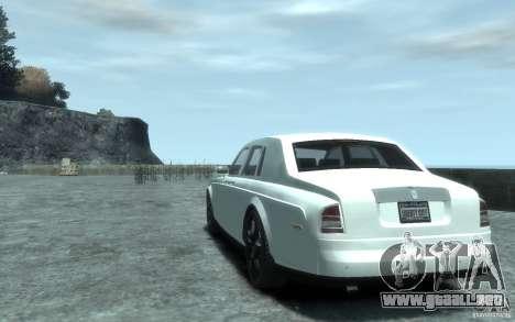 Rolls-Royce Phantom para GTA 4 Vista posterior izquierda