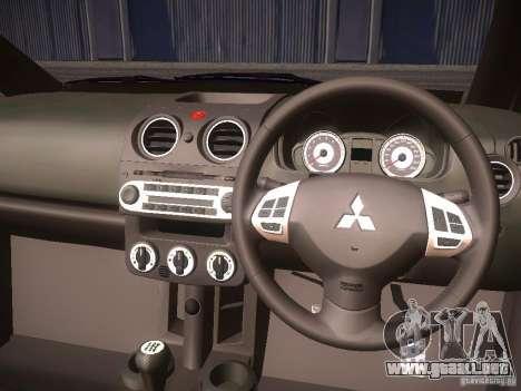 Mitsubishi Colt Rallyart para vista lateral GTA San Andreas