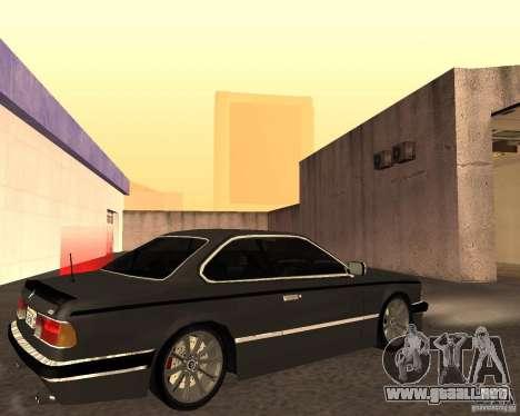 BMW M6 E24 para visión interna GTA San Andreas