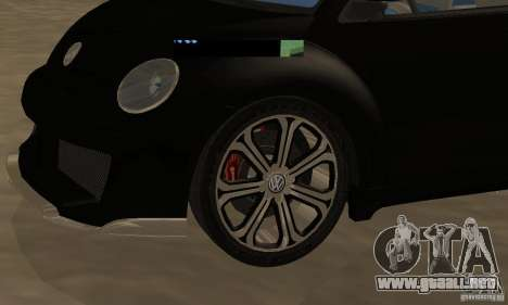 Volkswagen Bettle Tuning para GTA San Andreas vista hacia atrás