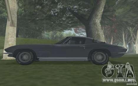 Chevrolet Corvette 427 para la visión correcta GTA San Andreas