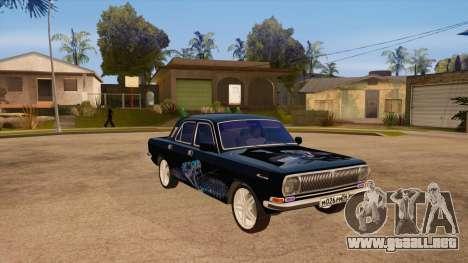 Volga GAZ 24 para GTA San Andreas vista hacia atrás