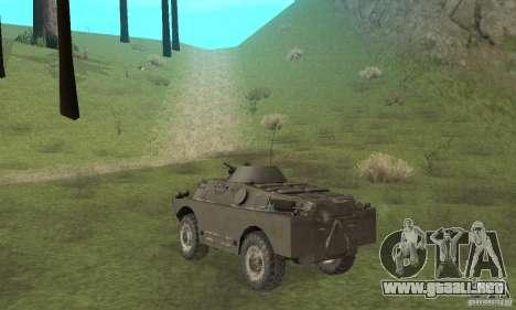 Versión de invierno BRDM-2 para la visión correcta GTA San Andreas