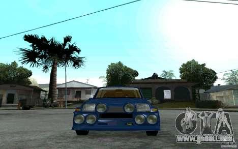 Renault 5 Maxi Turbo para la visión correcta GTA San Andreas