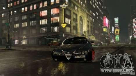 Alfa Romeo Brera Italia Independent 2009 v1.1 para GTA 4 vista hacia atrás