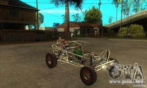Dirt 3 Stadium Buggy para GTA San Andreas vista hacia atrás
