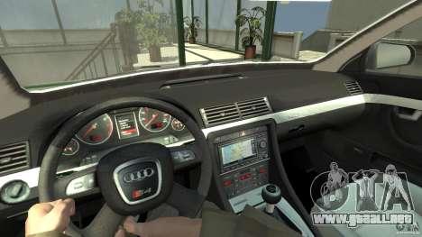 Audi A4 Avant beta para GTA 4 vista hacia atrás