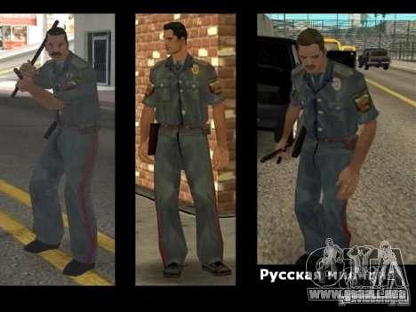 Skin reemplaza PD, el ejército y una piel del FB para GTA San Andreas tercera pantalla