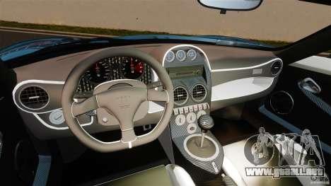 Noble M600 Bicolore 2010 para GTA 4 vista hacia atrás