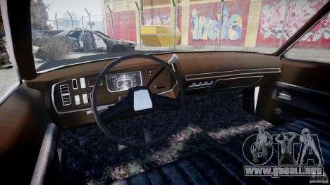 Dodge Monaco 1974 (bluesmobile) para GTA 4 vista hacia atrás