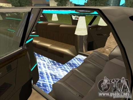 Cadillac DTS 2008 Limousine para GTA San Andreas vista posterior izquierda