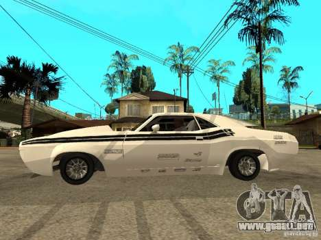 Dodge Challenger Speed 1971 para GTA San Andreas left