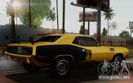 Plymouth Hemi Cuda 426 1971 para la visión correcta GTA San Andreas