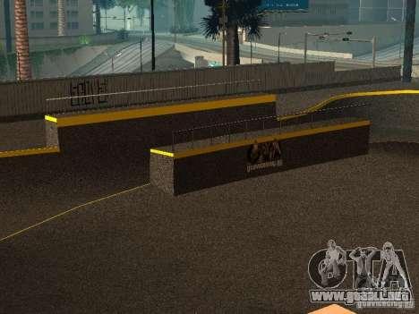 New SkatePark para GTA San Andreas sucesivamente de pantalla