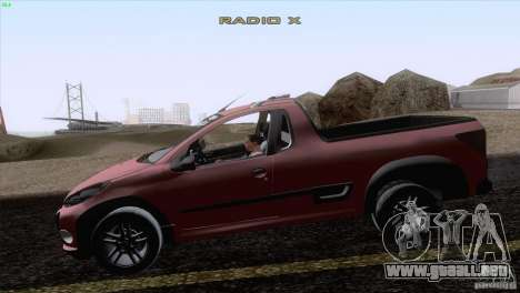 Peugeot Hoggar Escapade 2010 para GTA San Andreas left