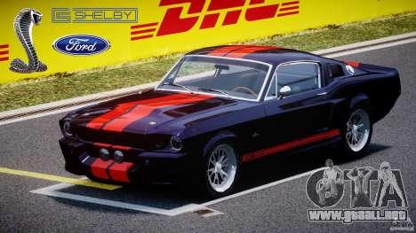 Ford Shelby GT500 1967 para GTA 4