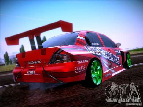 Mitsubishi Lancer Evolution 9 Hypermax para GTA San Andreas vista hacia atrás