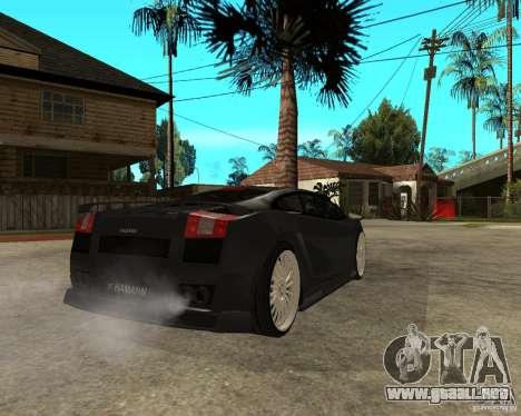Lamborghini Gallardo HAMANN Tuning para GTA San Andreas vista posterior izquierda