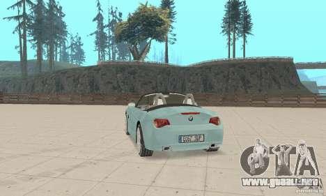 BMW Z4 Roadster 2006 para GTA San Andreas left