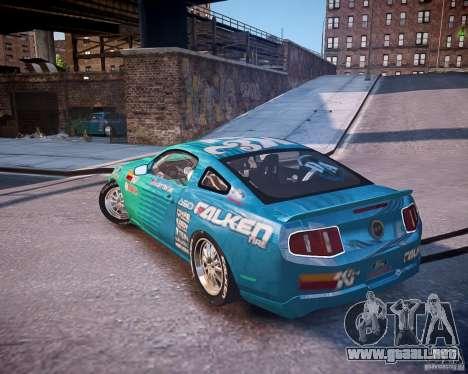 Ford Mustang Falken para GTA 4 left