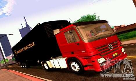 Lamborghini Cargo Truck para GTA San Andreas vista posterior izquierda