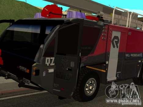 MAN Rosenbauer para GTA San Andreas left