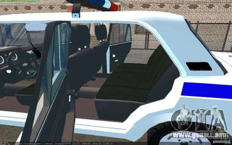 Vaz 2105 PPP Zhiguli para GTA San Andreas vista posterior izquierda
