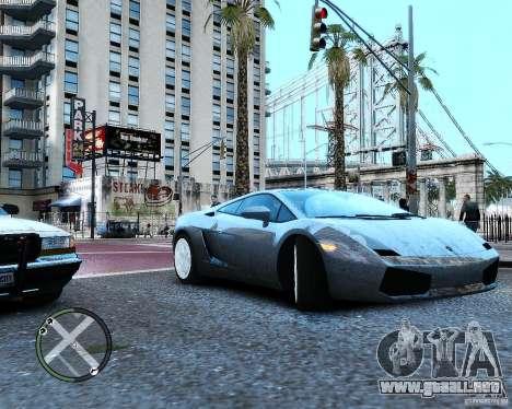 Lamborghini Gallardo 2005 para GTA 4 visión correcta