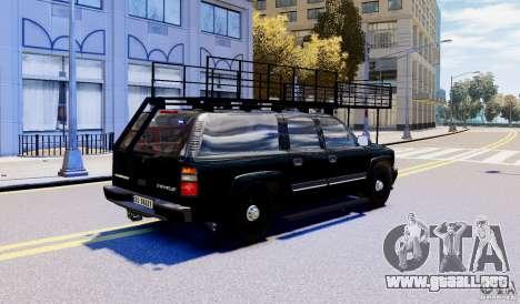 Chevrolet Suburban 2003 Norwegian SWAT Edition para GTA 4 left