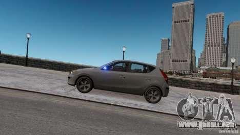 Hyundai i30 Unmarked para GTA 4 Vista posterior izquierda