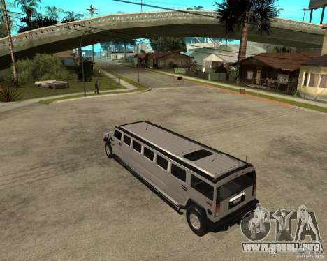 AMG H2 HUMMER 4x4 Limusine para GTA San Andreas left