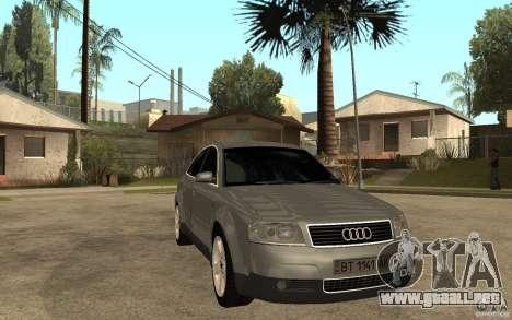 Audi A6 3.0i 1999 para GTA San Andreas vista hacia atrás