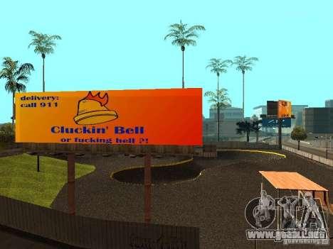 New SkatePark para GTA San Andreas sexta pantalla