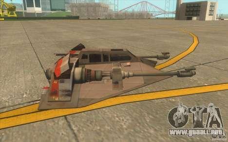 T-47 Snowspeeder para vista inferior GTA San Andreas