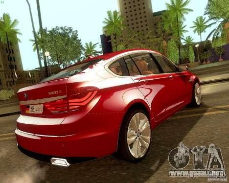 BMW 550i GranTurismo 2009 V1.0 para la vista superior GTA San Andreas