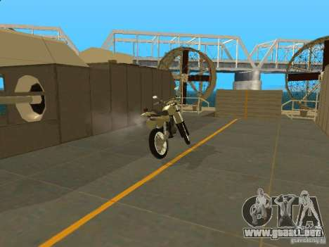 Motocicleta Čezet para la visión correcta GTA San Andreas