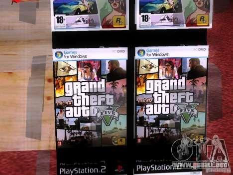 Conduce con el GTA en tienda cero para GTA San Andreas quinta pantalla
