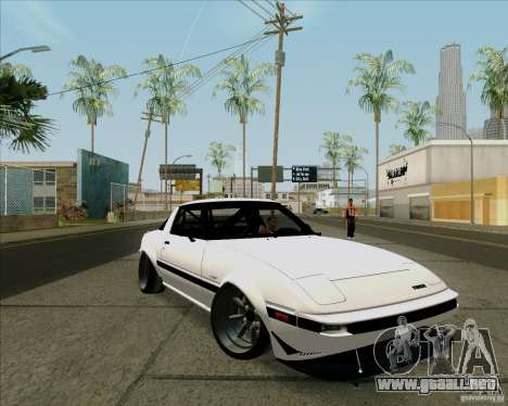 Mazda RX-7 FB Race para GTA San Andreas left