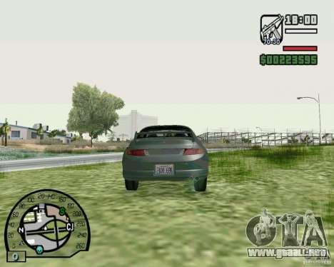 Mitsubishi FTO Stock para GTA San Andreas vista posterior izquierda