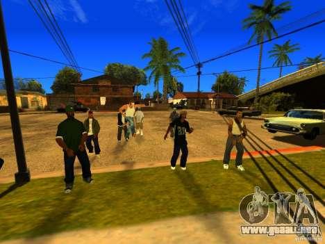 Área de fiesta para GTA San Andreas quinta pantalla