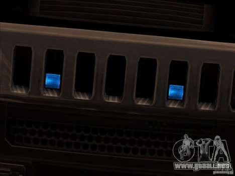 Hummer H3 para GTA San Andreas vista posterior izquierda