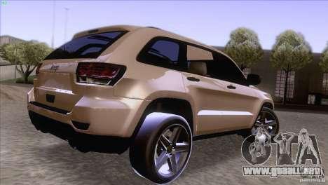 Jeep Grand Cherokee 2012 para GTA San Andreas left