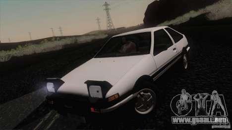 Toyota Sprinter Trueno AE86 GT-Apex para visión interna GTA San Andreas